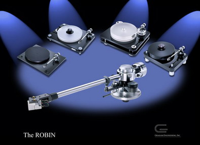 "The Robin tonearm from Graham Engineering is designed to fit into the budget of many audiophiles who have such popular turntables as the Rega, the Basis 1400 series, the VPI HW-19, Scout, or Aries models, plus the Clearaudio Champion and all similar turntables. In addition, the Robin is instantly interchangeable with our different base mounts, and you can choose between the Graham 2.2-compatible, the Rega, or the VPI Scout, all providing drop-in convenience as readily as any ""package"" system."